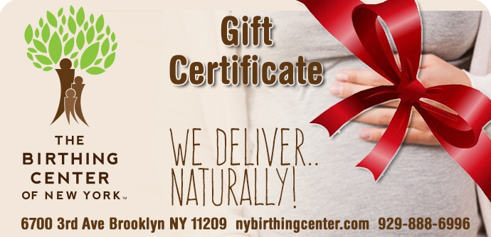 Birthing center gift certificates